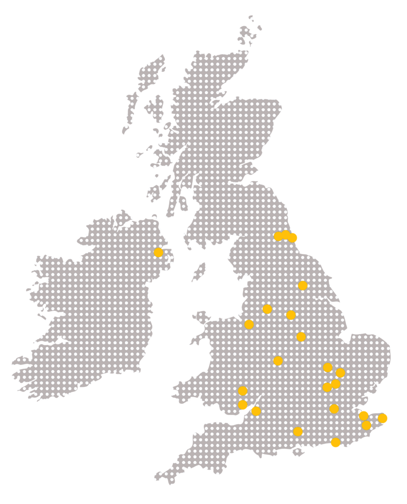 23 offices on UK map